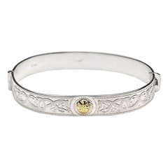 Celtic Warrior Bangle with 18k Gold Bead