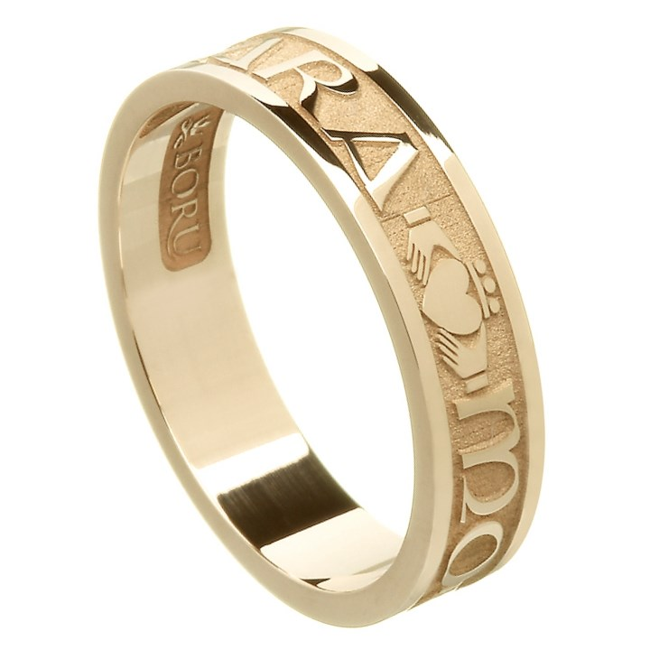 Beautiful My Soul Mate Yellow Gold Wedding Band   Ladies