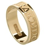 My Soul Mate Yellow Gold Wedding Band - Gents