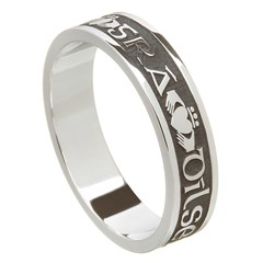 Love Loyalty Friendship Oxidized Silver Wedding Ring