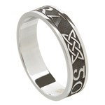 Love Forever Oxidized Silver Wedding Ring - Ladies