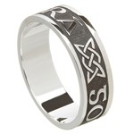 Love Forever Oxidized Silver Wedding Ring - Gents