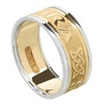 Love Forever Gold Wedding Ring with Trim - Gents