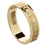 Love Of My Heart Yellow Gold Wedding Ring - Ladies