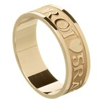 Love Of My Heart Yellow Gold Wedding Ring - Gents