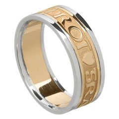 Love Of My Heart Gold Wedding Ring with Trim