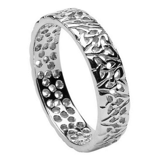 Trinity Knot Silver Wedding Ring - Ladies