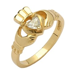 Claddagh Diamond Set Ring