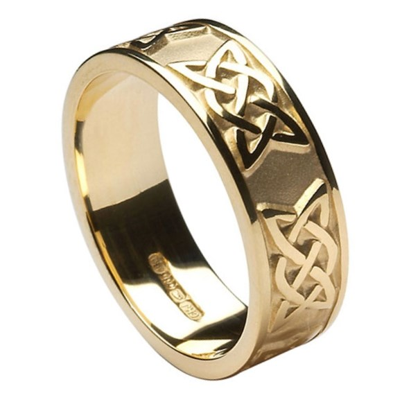 knot yellow gold wedding band rings from ireland
