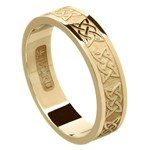 Lovers Knot Yellow Gold Wedding Band - Ladies