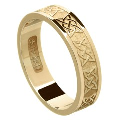 Lovers Knot Yellow Gold Wedding Band