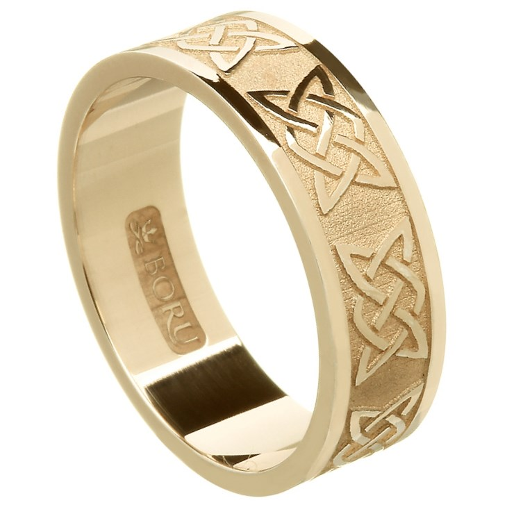 Wedding Knot | Lovers Knot Yellow Gold Wedding Band Keltische Trauringe Rings