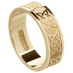Lovers Knot Yellow Gold Wedding Band - Gents