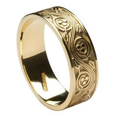 Triscele Weave Yellow Gold Wedding Band