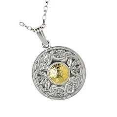 Celtic Warrior Large Pendant with 18k Gold Bead
