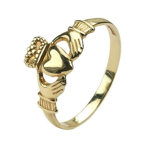 Baby Yellow Gold Claddagh Ring
