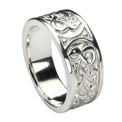 Traditional Silver Celtic Ring