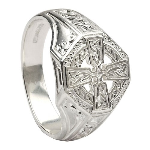Celtic Cross Silver Ring