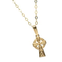 Small Traditional Yellow Gold Celtic Cross