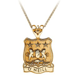 Coat of Arms Shield Yellow Gold Pendant