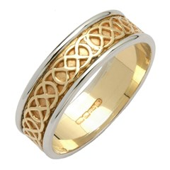 Celtic Closed Knot Wedding Band with Trim