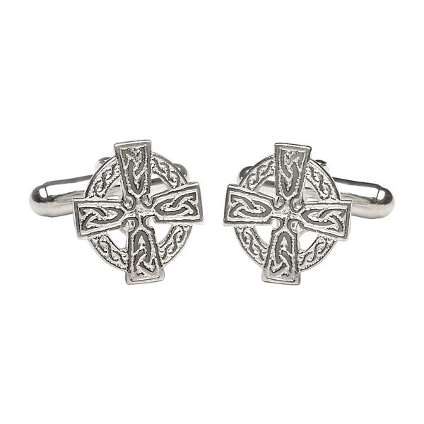 Celtic Cross Silver Cufflinks