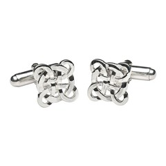 Filigree Celtic Cross Silver Cufflinks