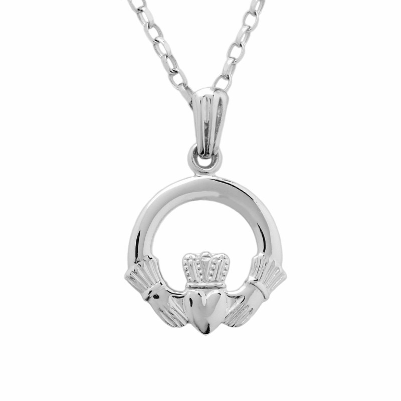 wings winged claddagh angel pendant wing
