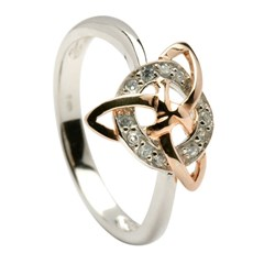 Celtic Circle and Trinity Knot Ring