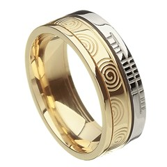Newgrange Faith Yellow Gold with White Rail Band