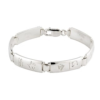History Of Ireland Ladies Silver 6 Link Bracelet