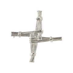 Bridgets Cross Silver Brooch