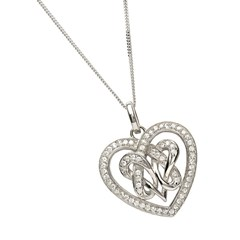 Pave Double Heart Pendant