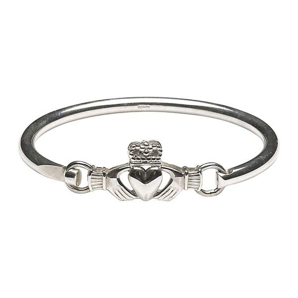 Claddagh Wire Bangle - Celtic Bracelets & Bangles