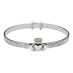 Baby Claddagh Expander Bangle