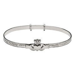 Ladies Claddagh Expander Bangle