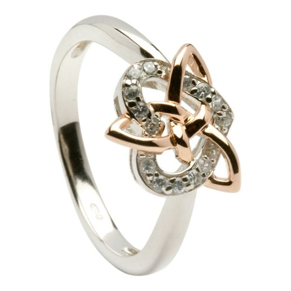 Celtic Heart and Trinity Knot Ring