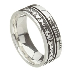 Claddagh Faith Silver Band
