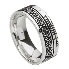 Trinity Knot Faith Silver Band