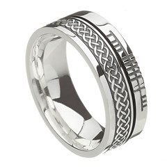 Celtic Knot Faith Silver Band
