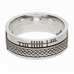 Celtic Knot Faith Silver Band - Oxidized Silver