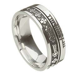 Celtic Cross Faith Silver Band
