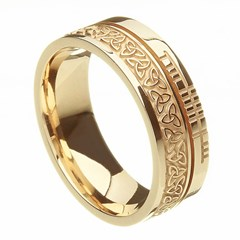 Trinity Knot Faith Yellow Gold Band