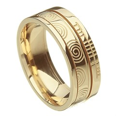 Newgrange Faith Yellow Gold Band