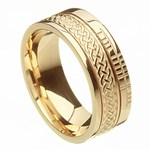Celtic Knot Faith Yellow Gold Band