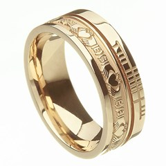 Claddagh Faith Yellow Gold Band