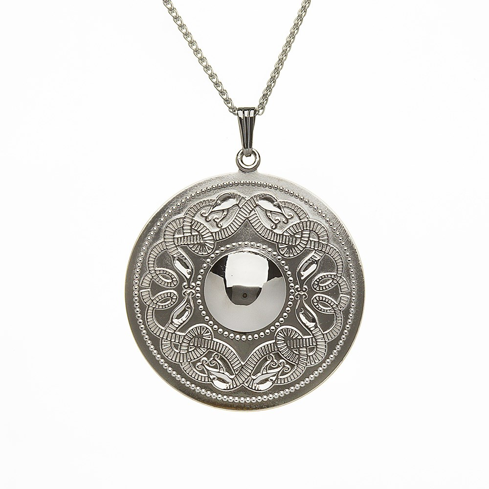 Celtic Warrior Extra Large Silver Pendant