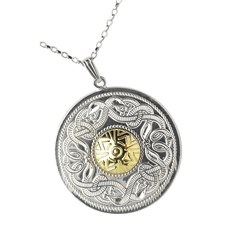 Celtic Warrior Extra Large Pendant with 18k Gold Bead