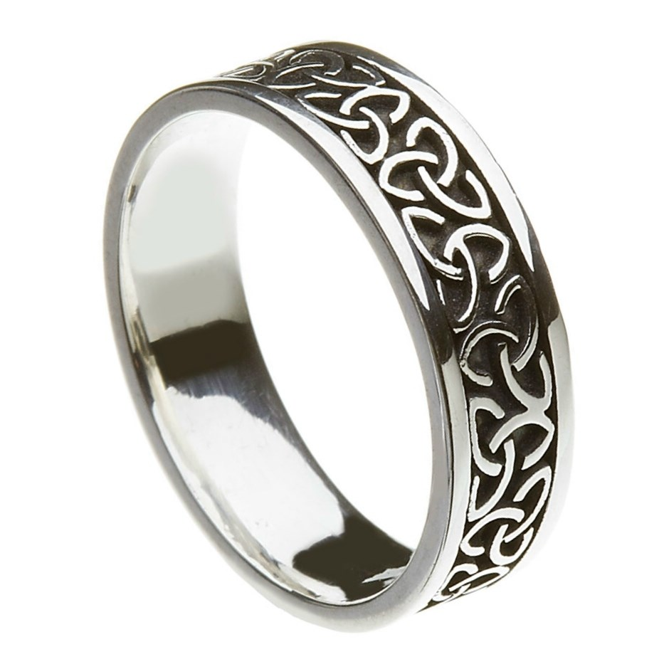 gold wedding r white zoom ring trinity rings celtic ladies