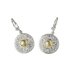 Celtic Warrior Earrings with 18k Gold Bead